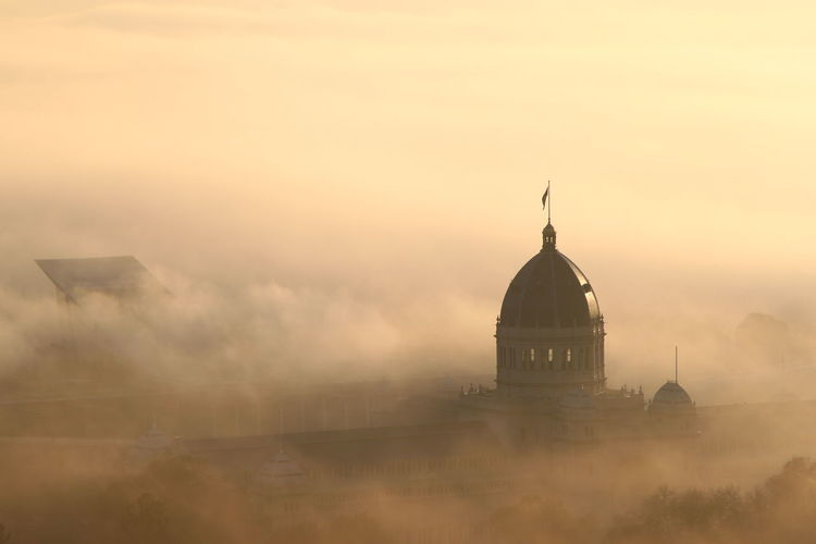 Royal Exhibition Building During Foggy Weather