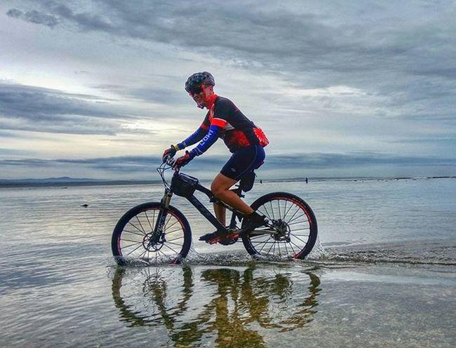 biking over Indonesian ocean Sefo  saba ujung genteng
