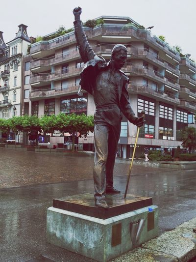 Is this the real life? Is this just fantasy? Freddiemercury Queen Statue Check This Out Hello World Taking Photos Enjoying Life