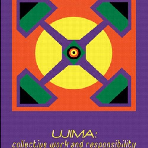 "The 3rd Principle of Kwanzaa is Ujima, which means Collective Work and Responsibility. It calls for us ""To build and maintain our community together and make out brother's and sister's problems our problems and to solve them together."" Ujima CollectiveWorkAndResponsibility HappyKwanzaa CelebrateKwanzaa"