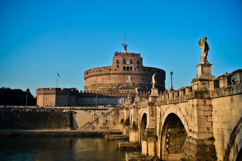 Italy, Rome, View Of Castel Santangelo