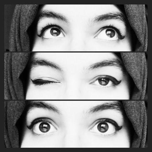 Black N White Eyes NoGlasses Psychotic_girl Owlgirl