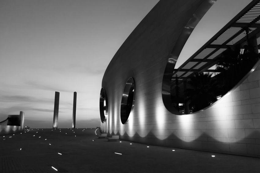 noção de espaço Edificio Exterior Architecture Arquitectura Building Exterior Built Structure Espaço Estrutura Fundação Champalimaud Modern No People Noite Outdoors