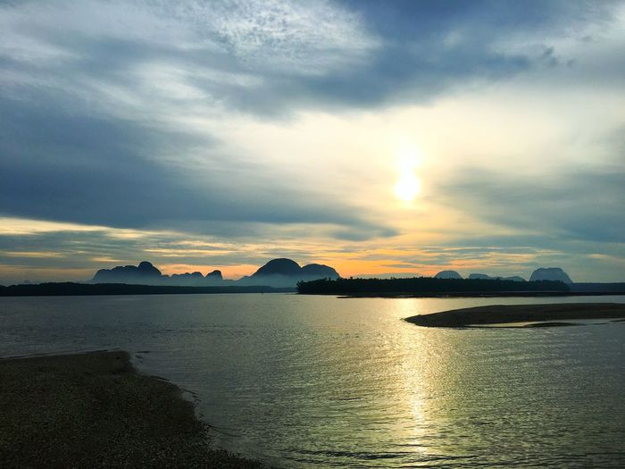 Morninglight Travel Destinations Thailand Morningtime Sky Water Scenics - Nature Beauty In Nature Cloud - Sky Sunset Sea Tranquil Scene Mountain Nature Reflection Waterfront Sunlight Silhouette
