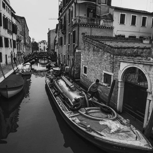 Streetphotography Streetphoto_bw Streetphotography_bw Street Scene Gondola - Traditional Boat Water Nautical Vessel City Moored Cityscape Reflection Architecture Building Exterior Sky Gondola Canal Venice - Italy Water Vehicle Boat Civilization