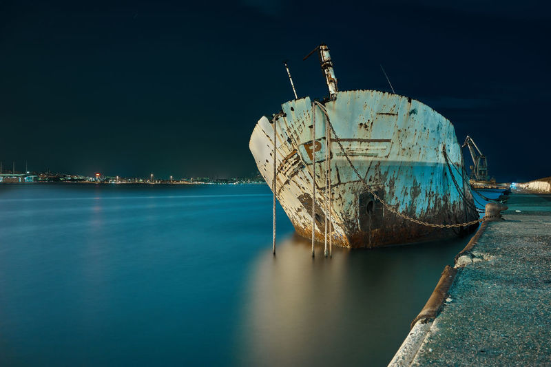 long exposure of an old rusty wreck Wreck Abandoned Beach Damaged Day Deterioration Mode Of Transportation Moored Nature Nautical Vessel No People Outdoors Rusty Sailboat Sea Ship Shipwreck Sinking Sky Tranquil Scene Tranquility Transportation Water My Best Travel Photo Capture Tomorrow My Best Photo