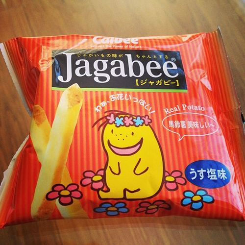 My favourite Japanese potato snack! Jagabee ... The fresh ones you get in Tokyo are the best! ASIA Happy my local supermarket stocks these!