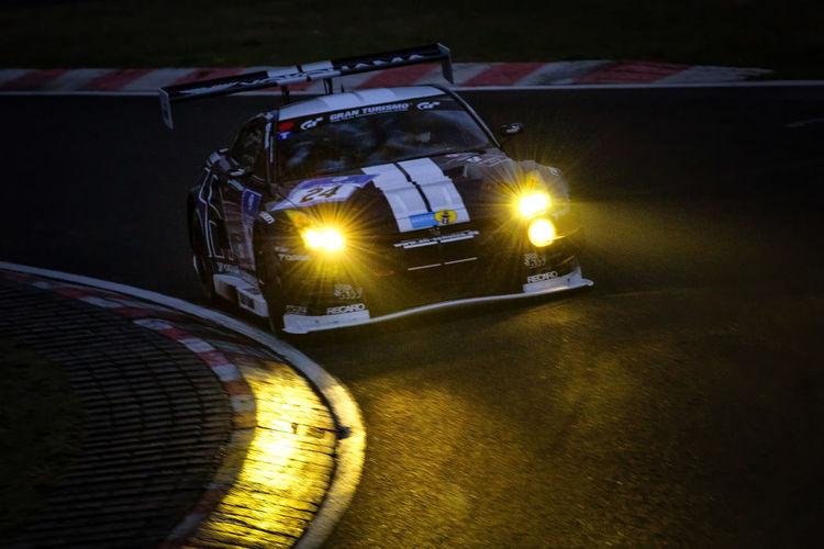 Curve GTR Night Lights Racing Cornering Curb Illuminated Light And Shadow Light Beam Night Night Racing No People Nürburgring Racetrack Outdoors Racecar Racetrack