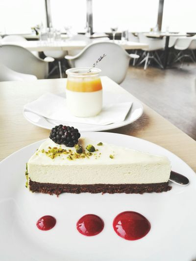 Close-Up Of Cheesecake At Restaurant
