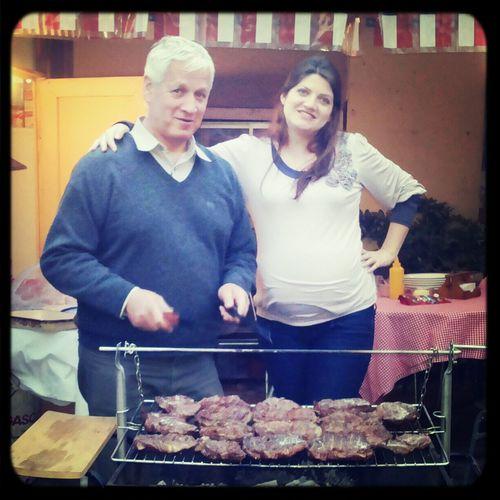 mi papa... mi hermana... y mi sobrinito celebrando el 18 :))