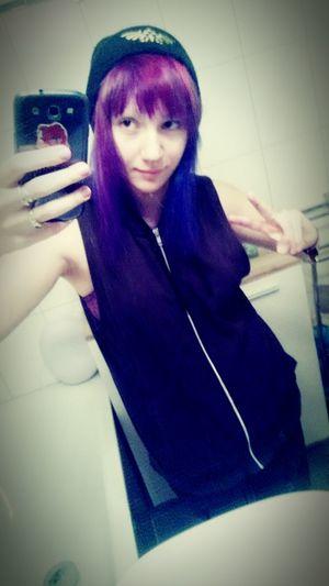 Selfie ✌ Starseed Scenegirl  Emo Purple Hair Emoscene Model Otherkin Violet Purple F4F F4follow