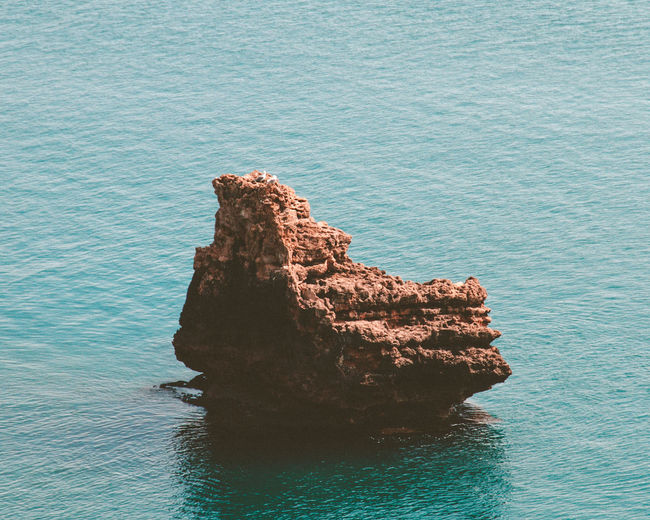 Sea Rock Water Rock - Object Beauty In Nature Solid Tranquility Rock Formation Tranquil Scene Scenics - Nature Waterfront Nature No People Day Idyllic Blue Remote Outdoors High Angle View Stack Rock Eroded Turquoise Colored Rocky Coastline Manzara Antalya Antalya Turkey Antalya♥