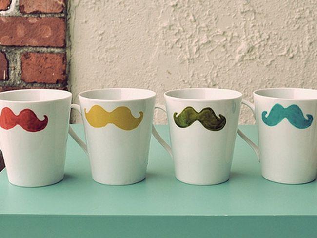 Mustache Mug Wallpaper ♥