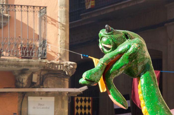 Drac Animal Representation Built Structure Statue Building Exterior Green Color Architecture No People