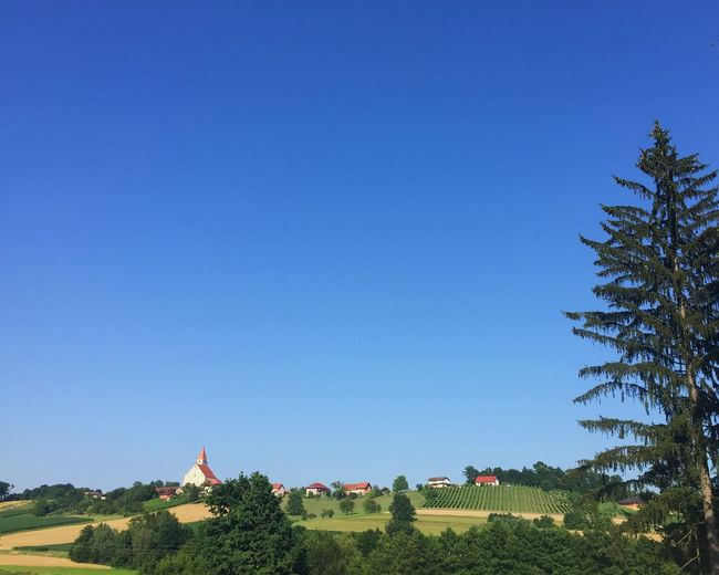 Enjoying The View Blue Sky Nature Landscape From Vienna To Milan