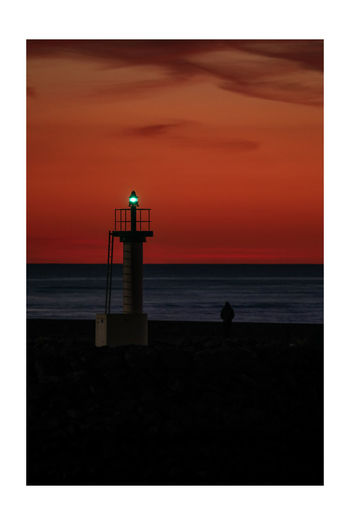 green lantern Sea Lighthouse Sand Dune Beach Sunset Summer Lifeguard  Horizon Direction
