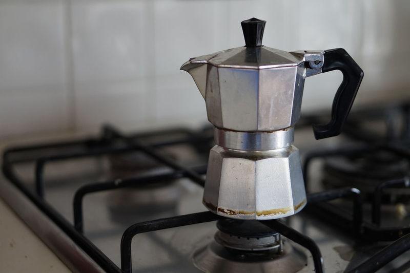 Burner - Stove Top Coffee Pot Domestic Kitchen Drink Espresso Maker Gas Stove Burner Indoors  Metal Mocha Preparation  Stove