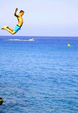 JUMP!? Jump! Everyday Lives Capture The Moment My Best Photo 2014 Stand Out From The Crowd TwentySomething The Amazing Human Body Snapshots Of Life On The Move EyeEm Best Shots Learn & Shoot: Balancing Elements Photography In Motion Blue Wave The Essence Of Summer People Of The Oceans Original Experiences in Begur