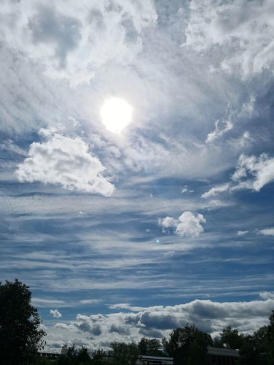 Low angle view of sky on sunny day