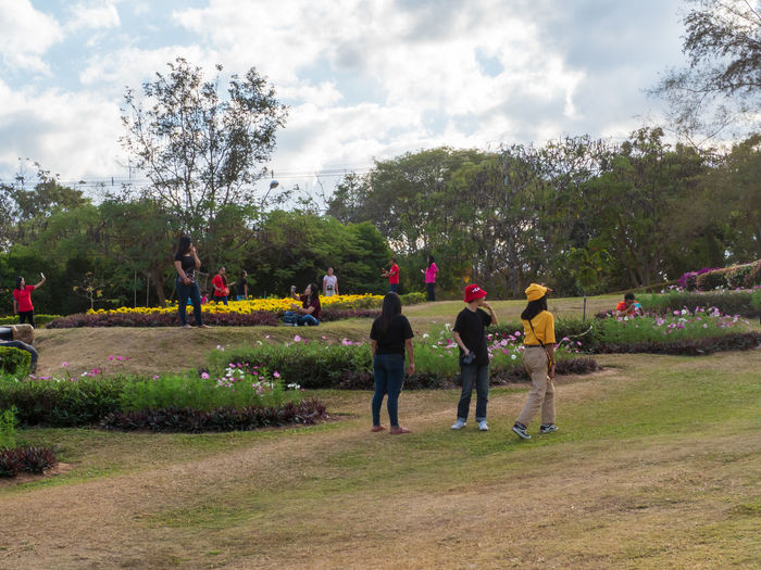 Group of people at park
