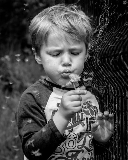 Make a wish! Hanging Out Enjoying Life Check This Out EyeEm Best Edits First Eyeem Photo Blackandwhite Portrait Kids EyeEm Best Shots Blackandwhite Photography Nikond300