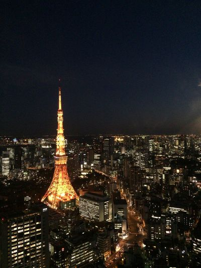 Architecture City City Life Japan Night No People Sky Tokyo Tokyo Tower Tower