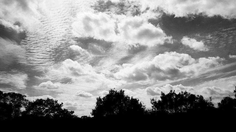 Clouds Cloudscape Sky B&w