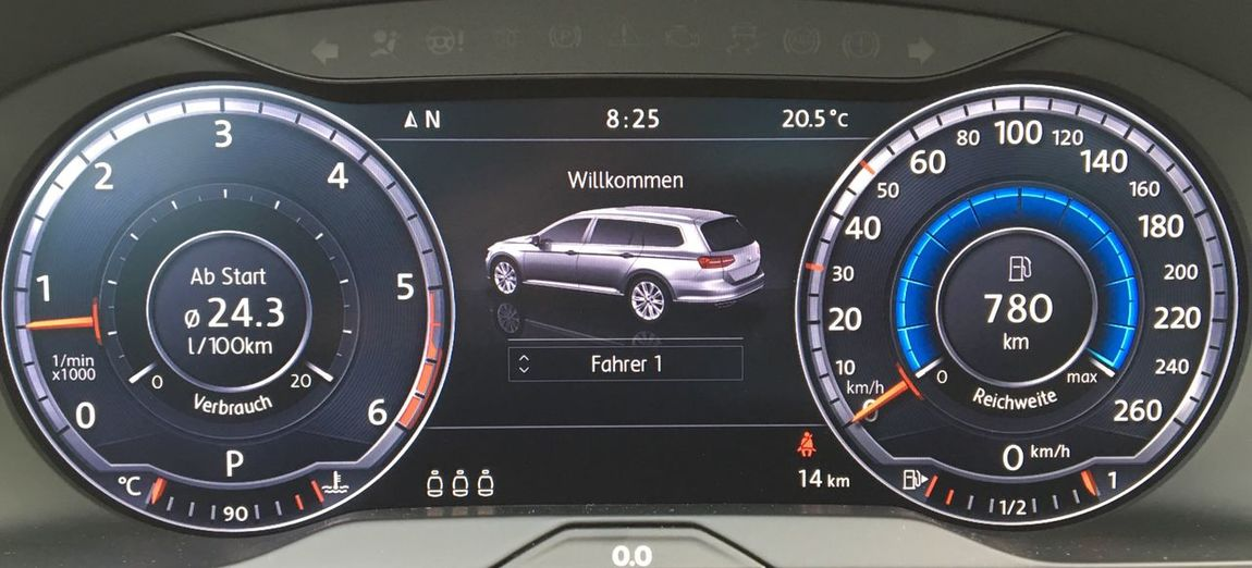 …and taking this Passat to Friedberg (Bayern). #VirtualCockpit