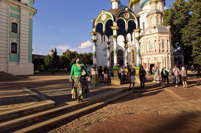 Architecture Religion Shadow Rear View Spirituality Person Walking Church Sunlight Moscowregion Sergievposad Saints Christ Church Russia Welcometorussia Multi Colored Travel