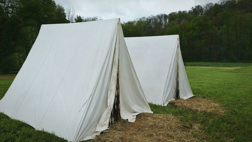 Tents at Seven Year's War re-enactment Day No People Outdoors Grass Sky Vintage Military Sleeping Quarters Tent Tents The EyeEm Collection