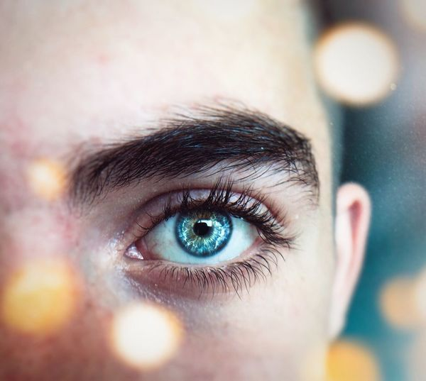 The window to the soul People People Photography People Lights Light And Shadow Light Bokeh Photography Bokeh EyeEm Eyesight Blue Eyes Sensory Perception Young Adult Portrait Beauty Indoors  Eyeball Eye Human Eye Body Part Human Body Part Close-up One Person Looking At Camera Blue Eyes Eyebrow Adult Selective Focus Extreme Close-up Iris - Eye Capture Tomorrow The Portraitist - 2019 EyeEm Awards The Mobile Photographer - 2019 EyeEm Awards
