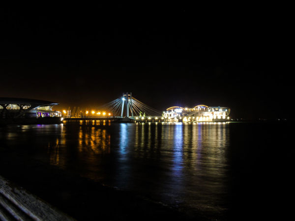 Be. Ready. Night Illuminated Bridge - Man Made Structure Arts Culture And Entertainment Travel Destinations Architecture Cityscape Built Structure Outdoors City No People Nightlife Clear Sky Sea Sky Building Exterior Water Backgrounds Photography Long Exposure Durres Albania Mobility In Mega Cities