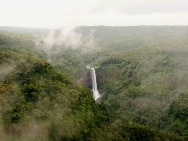 Sural or Surla Waterfall on Chorla Ghat, Karnataka, India. Sural Sural Waterfall Surla Surla Waterfall Countryside Chorla Chorla Ghat Beauty In Nature Beautiful Greenery Monsoon Idyllic Serenity Serene Tranquil Water Waterfall Power In Nature Motion Sky Foggy Mist Fog Tranquil Scene Forest Scenics Tranquility Calm Valley Stream