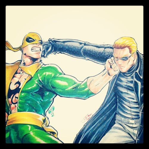 Ironfist vs Wesker shit just got real
