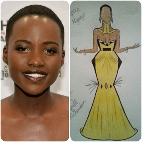 Lupita Nyong'o Design...can ya'll tag her IG Name and help me share it to her? @lupitanyongo @theellenshow @keltieknight LupitaNyongo Lupita 12yearsaslave Blackisbeautiful covergirl fashion f4f fashionillustrator follow4follow fashionillustration followforfollow celebstylist celebritystylist instadaily instamood instafashion igdaily instagood