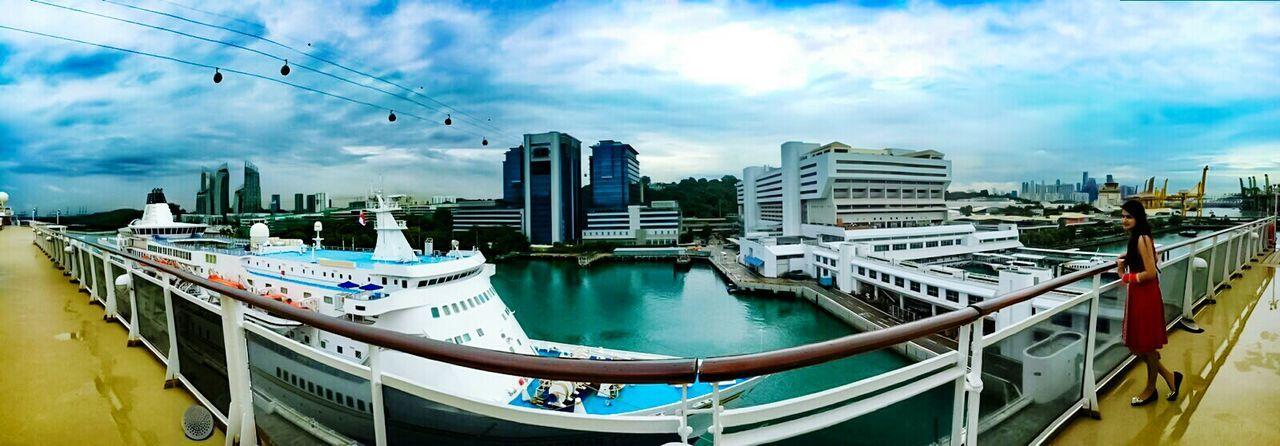 IPhoneography IPhone 6s Panorama Cruise Ship Buildings & Sky Sea And Sky After Rain Showcase June