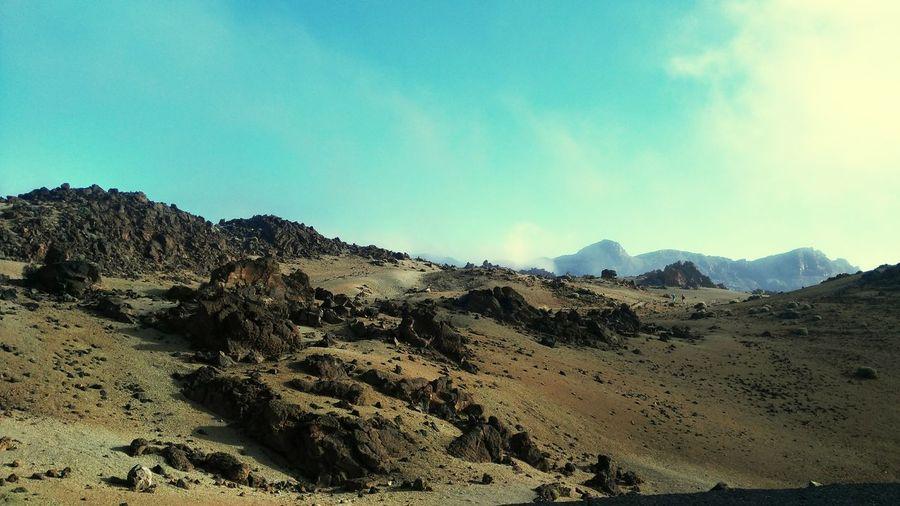Desert Beauty Desert Tenerife Teneriffa Teide Montains And Sun