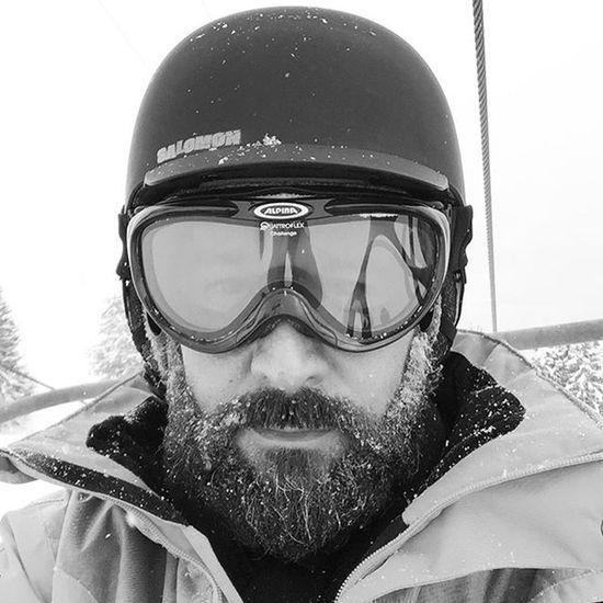 Ski Beard Beardman Blackandwhite Blacknwhite Beardlife Snow Beardski Beards Lifestyle Live Beardlife Portesdusoleil Morgins