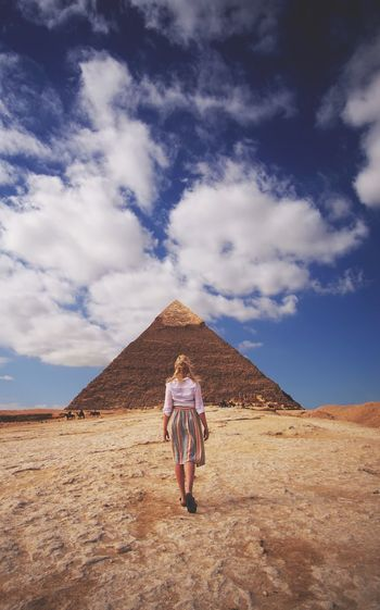 A city of wonders Egypt Travel Sky Cloud - Sky One Person Full Length Desert Real People An Eye For Travel Outdoors Landscape Vacations Travel Destinations Lifestyles