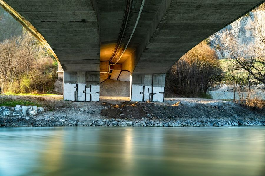 The Bridge Kematen Tirol From My View Travelphoto Beautifuldestinations Love Time Amazingview Worldplaces Landscapephotography Long Exposure Ggaßler Austria EyeEmNewHere Ceiling Architecture Under Underneath Arch Bridge Tunnel Graffiti Bridge - Man Made Structure Underpass Light At The End Of The Tunnel