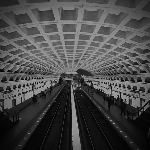 Large Group Of People Indoors  Transportation Public Transportation Railroad Station Ceiling Travel Real People Rail Transportation Railroad Track Architecture Women Men Modern Day People Metro Metro Station