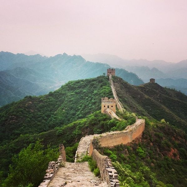 Something to behold Thegreatwalllofchina Afternoon Chinese Outdoors ASIA Civilization Ancient Historical History Clouds Cloudy Mountains Wall China Hebei Province Hebei Great Wall Of China Jinshanling