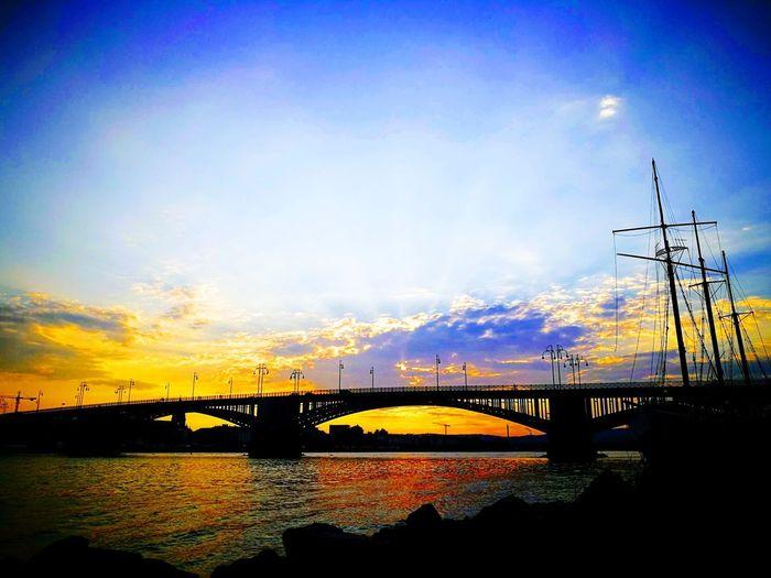 Kasteler Strand :) Bridges Mainz-Kastel Germany Feierabend Sunset Water Sky Cloud - Sky Architecture