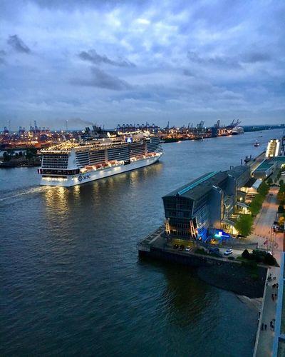 Hamburg ⚓️ Hafengeburtstag Hamburg Water Nautical Vessel Transportation City Architecture Sky Building Exterior Ship Cityscape Building Harbor