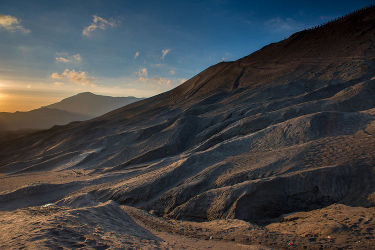 Volcanic Landscape at Bromo Tengger Semeru National Park. Beauty Beauty In Nature Bone  Bromo Tengger Semeru National Park Clear Sky Day Desert Dusk Full Frame Hiking Horizon Landscape Mountain Nature No People Outdoors Plant Sand Sand Dune Scenics Sky Sunlight Sunset Volcanic Landscape Volcano