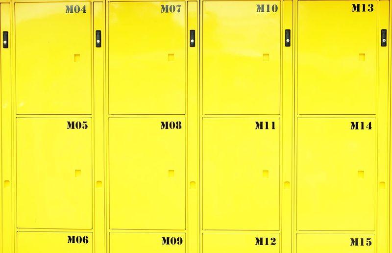 Full frame shot of yellow locker