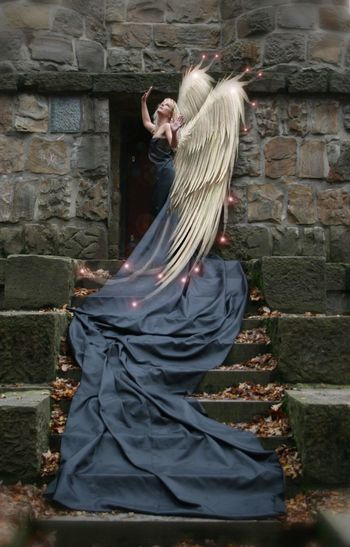 Outdoors Standing Angel Angelwings  Wings Good Morning Good Morning! Goodnight Lost Places Person Lostplaces Nina Sternfee Women Who Inspire You Blonde Blonde Girl