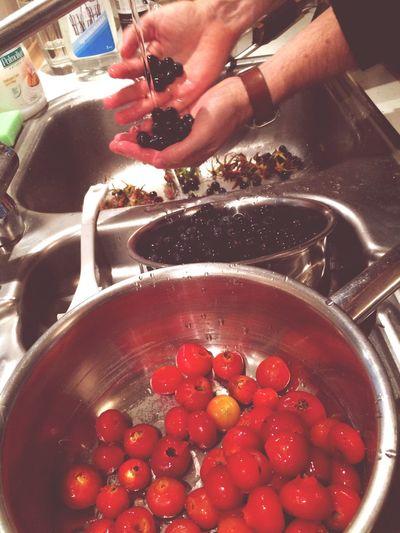 Så er der høstet bær til marmelade og snaps.Sommerhusus