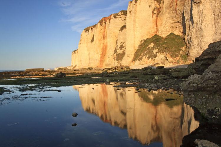 Rock formation in sea
