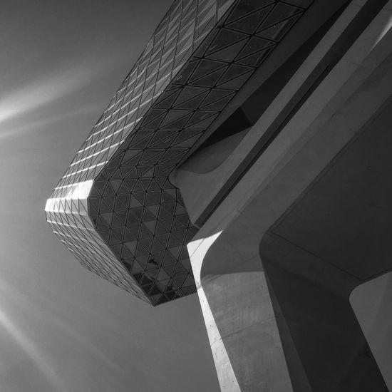 ZahaHadid Architecture Modern Building Exterior Belgium Antwerpen Sky Day